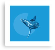 Blue whale and baby Canvas Print