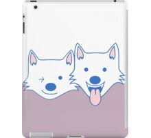 White dogs iPad Case/Skin
