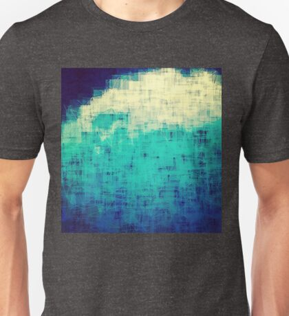 ice-flow pixelated abstration Unisex T-Shirt