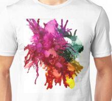 Ink Blot Blooms Unisex T-Shirt