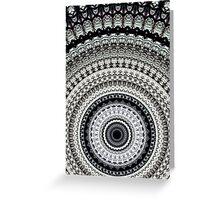 Mono Rays Mandala Greeting Card