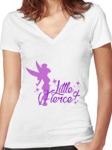 Little & Fierce Women's Fitted V-Neck T-Shirt