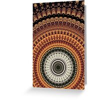 Golden Rays mandala  Greeting Card