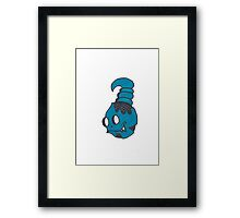 Blue Graffiti Creation  Framed Print