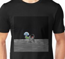 Space Cat Travels to the Moon Unisex T-Shirt