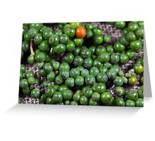 green pepper berries Greeting Card