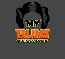 My Buns Can Kick Yours Women's Fitted V-Neck T-Shirt