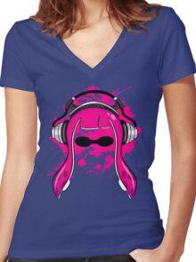 Inkling girl (Magenta) Women's Fitted V-Neck T-Shirt