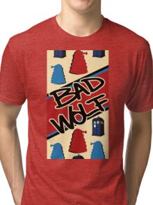 Bad Wolf Pattern Tri-blend T-Shirt