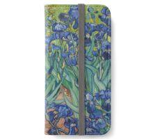 Vincent Van Gogh - Irises.  Van Gogh - Irises Impressionism Flowers 1889 iPhone Wallet/Case/Skin