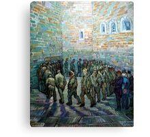 Vincent van Gogh Prisoners Exercising Canvas Print