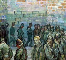 Vincent van Gogh Prisoners Exercising Sticker