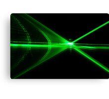 Laser reflection Canvas Print