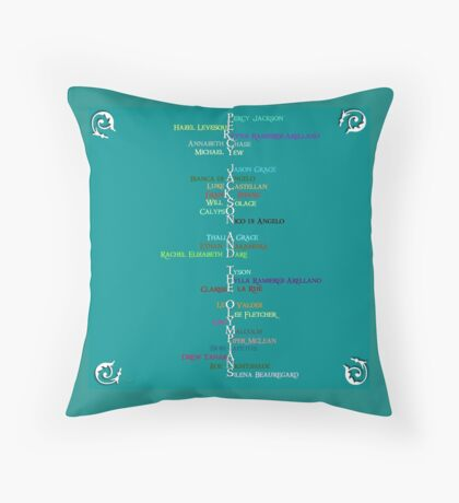 Percy Jackson Word Art Throw Pillow