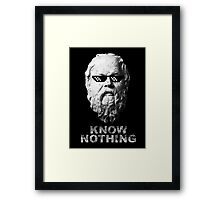 Know Nothing Framed Print