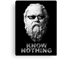Know Nothing Canvas Print