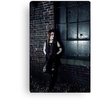 Ripped Jeans and the Punk Rock Scene Canvas Print