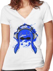Inkling girl (Blue) Women's Fitted V-Neck T-Shirt
