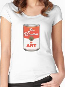 Pro Wrestling is (pop) Art - Colour Women's Fitted Scoop T-Shirt
