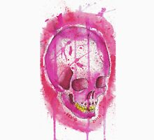 PINK WATER COLOR SKULL Unisex T-Shirt