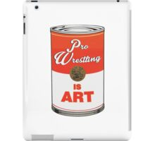 Pro Wrestling is (pop) Art - Colour iPad Case/Skin