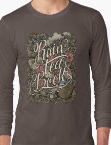 Rain, Tea & Books - Color version Long Sleeve T-Shirt