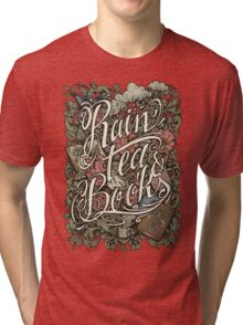 Rain, Tea & Books - Color version Tri-blend T-Shirt