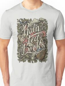 Rain, Tea & Books - Color version Unisex T-Shirt