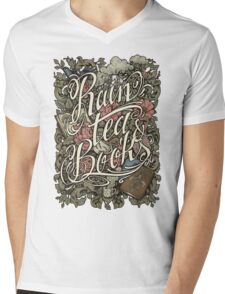 Rain, Tea & Books - Color version Mens V-Neck T-Shirt
