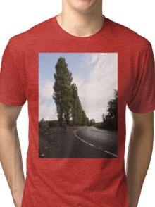 Cyprus Trees Descending Derry Ireland Tri-blend T-Shirt