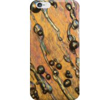 Air bubbles in ice under the microscope iPhone Case/Skin