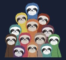 Sloth Pattern Kids Tee