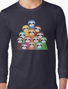Sloth Pattern Long Sleeve T-Shirt
