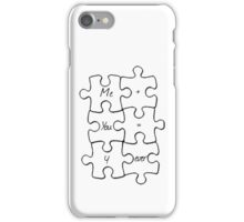 We Fit Together - B&W iPhone Case/Skin