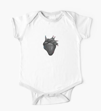 Black Hearted One Piece - Short Sleeve