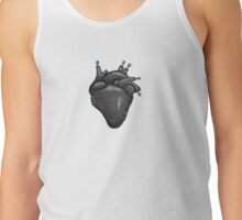 Black Hearted Tank Top