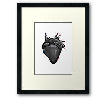 Black Hearted Framed Print