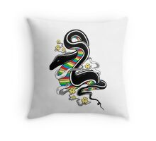 Many Colors Throw Pillow