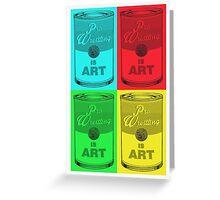 Pro Wrestling is (pop) Art Greeting Card