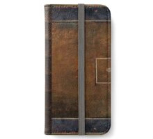 Old Worn Leather Book Cover Design iPhone Wallet/Case/Skin