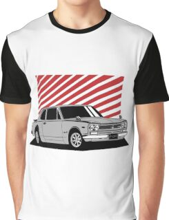 Nissan Skyline 2000 GT-R Coupe (silver) Graphic T-Shirt