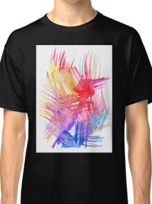 Watercolor abstract palm leaves Classic T-Shirt