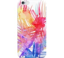 Watercolor abstract palm leaves iPhone Case/Skin