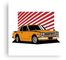 Nissan Skyline 2000 GT-R Coupe (orange) Canvas Print