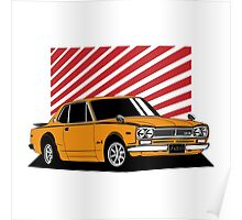 Nissan Skyline 2000 GT-R Coupe (orange) Poster