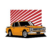 Nissan Skyline 2000 GT-R Coupe (orange) Photographic Print