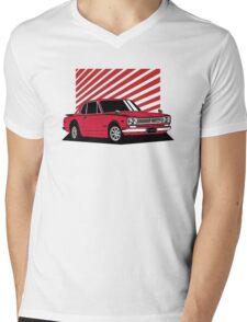 Nissan Skyline 2000 GT-R Coupe (red) Mens V-Neck T-Shirt