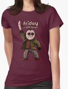 Friday night fever Womens Fitted T-Shirt