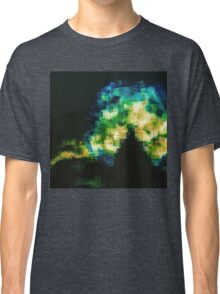 turquoise celadon daphodil pixelated abstraction Classic T-Shirt