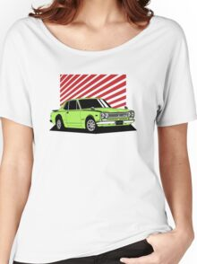 Nissan Skyline 2000 GT-R Coupe (green) Women's Relaxed Fit T-Shirt
